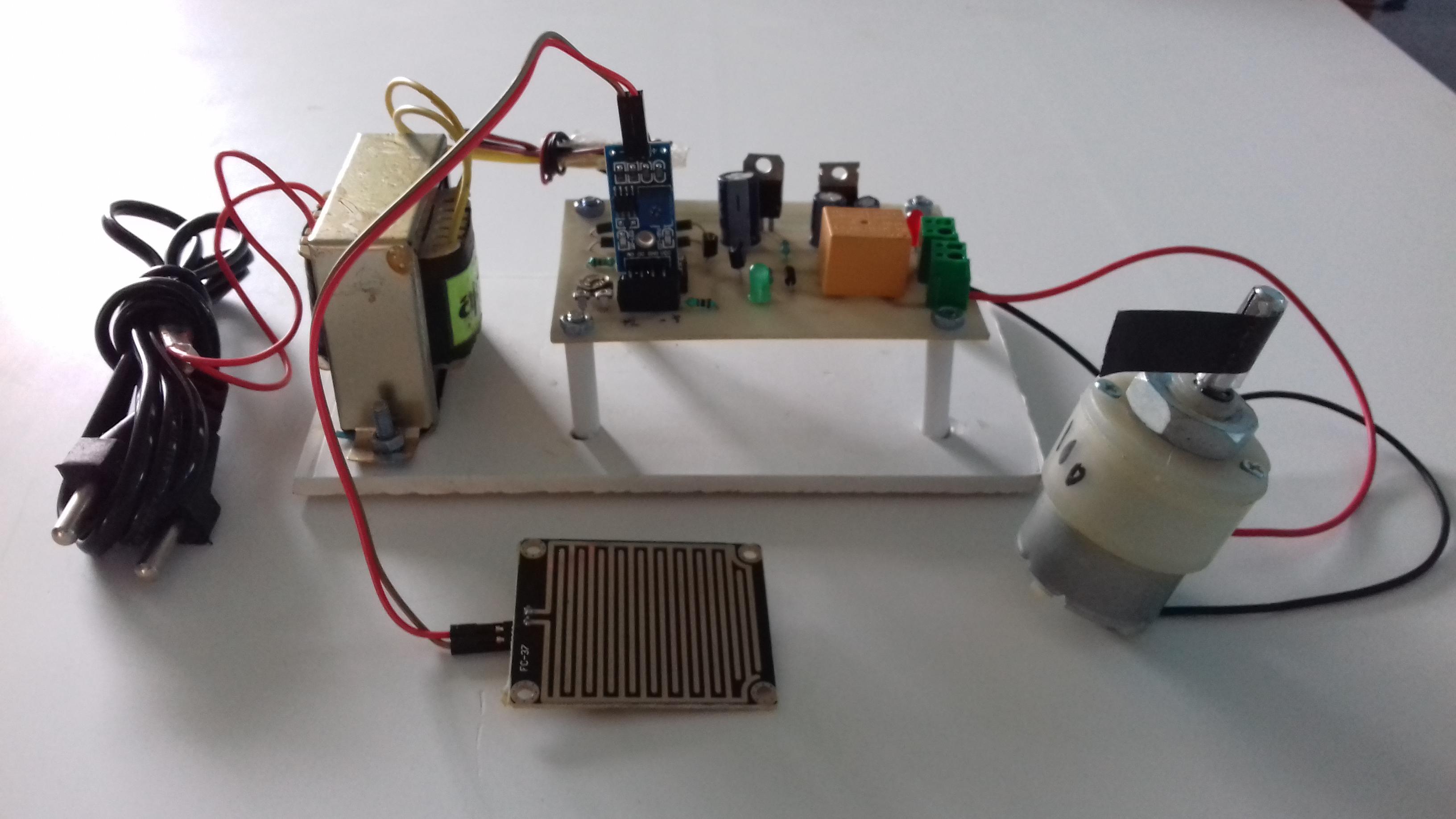 Automatic Wiper System Electrosal Rain Sensing Windshield Control Circuit Diagram Prev