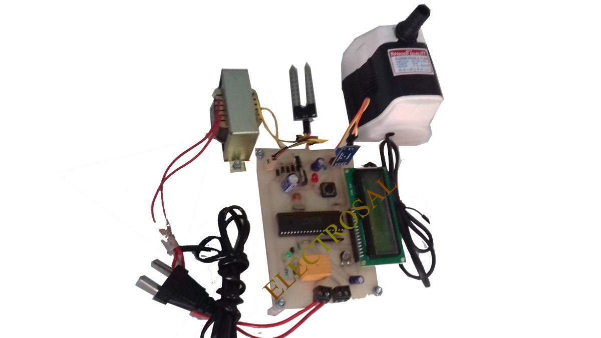 Soil Moisture Sensor Base Irrigation System Using Pic Rain Detector Circuit Diagram 8051 Prev