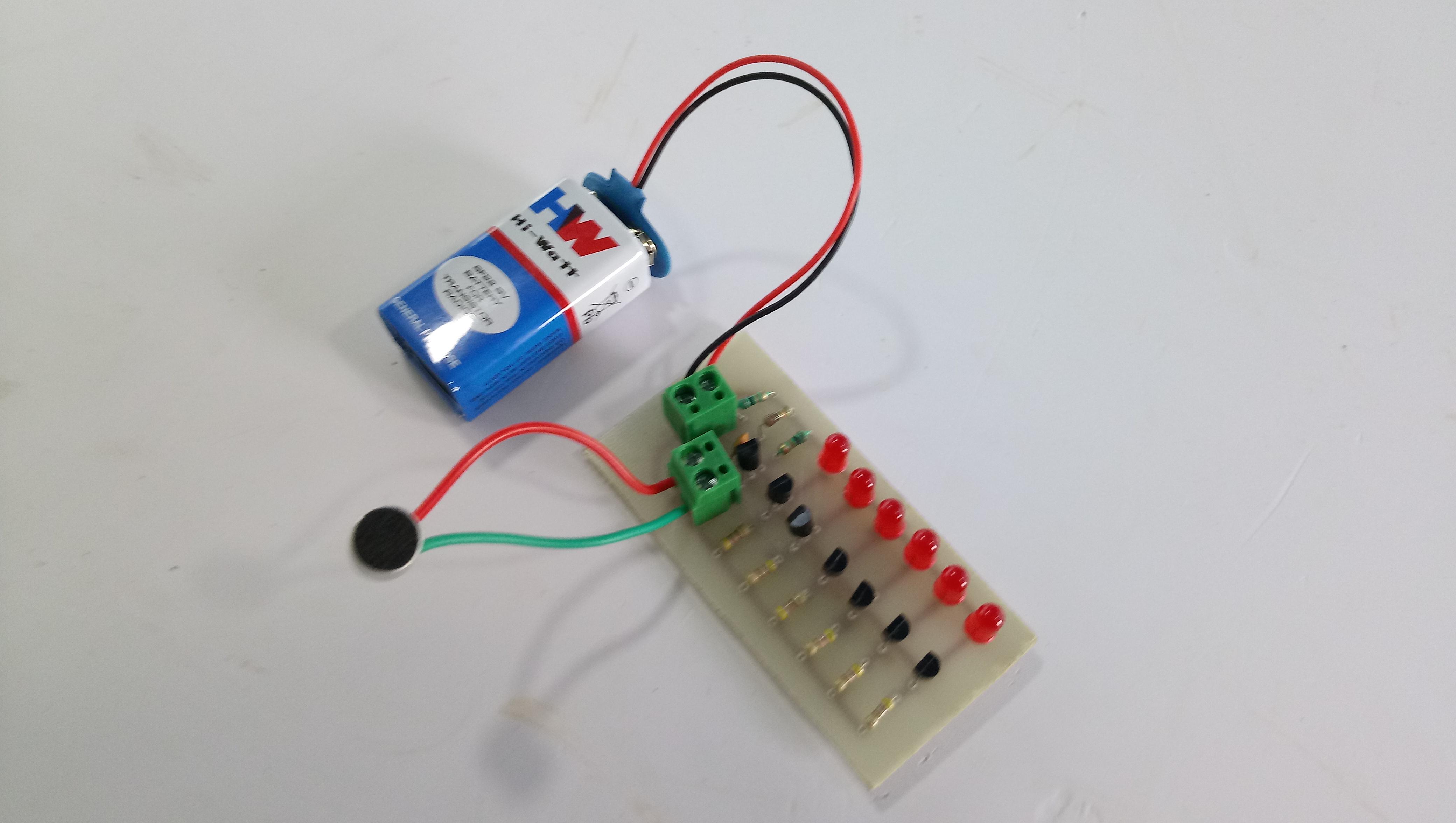 MUSIC REACTIVE FLASH LIGHT LED USING MICROPHONE